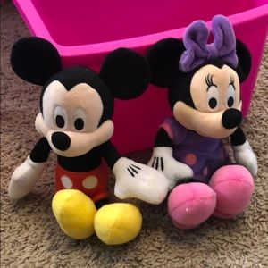 "Mickey n mini small ""plushies"""